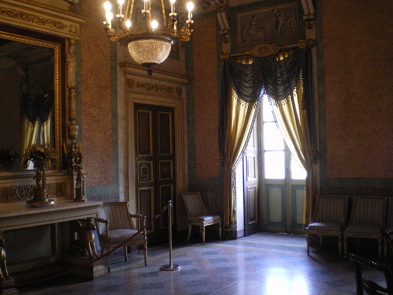 La Sala d'Oro all'interno di Palazzo Manzi