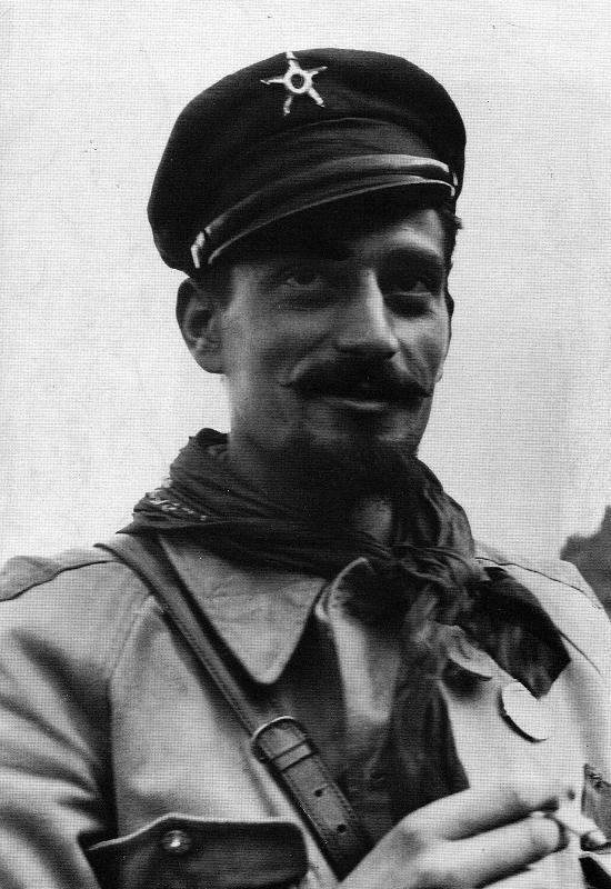 """Pier Luigi Bellini delle Stelle """"Pedro"""", comandante della 52° Brigata Garibaldi, che arrestò il Duce il 27.4.1945"""