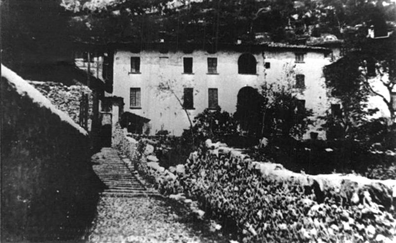 De Maria House at Bonzanigo di Mezzegra, where Mussolini and Claretta  Petacci passed their last night.